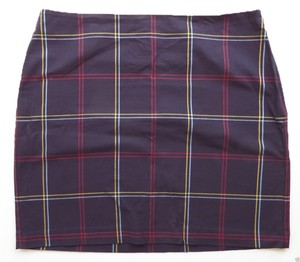 Tommy Hilfiger Skirt Multi Color Checkered Print