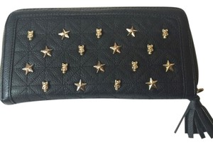 Betsey Johnson BETSEY JOHNSON Zip Around Skull Studded Wallet
