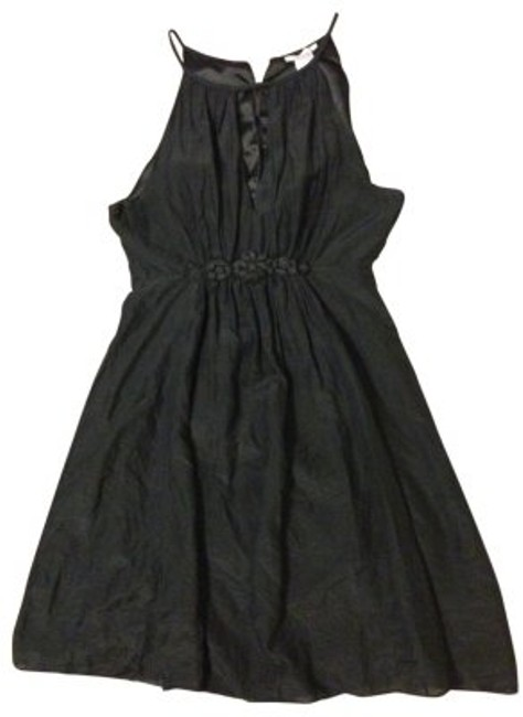 Preload https://img-static.tradesy.com/item/31230/esley-black-tissue-with-flower-detail-knee-length-cocktail-dress-size-12-l-0-0-650-650.jpg