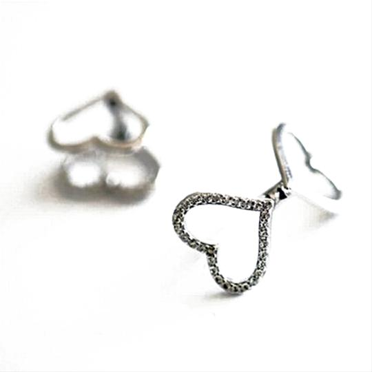 Other Mirror the Dual of Hearts Earring Studs 925 Sterling Silver
