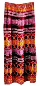 Mossimo Supply Co. Festive Bright Maxi Skirt multi-color