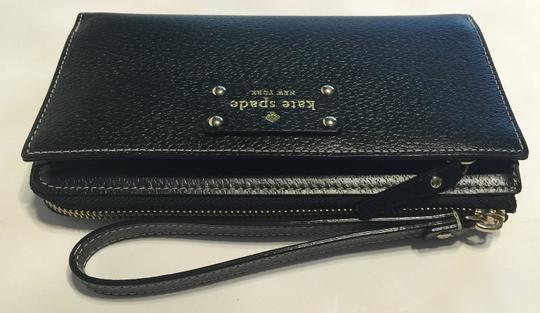 Kate Spade Wellesley Layton Leather Clutch Tech Wallet Case Iphone Samsung Phone Iphone 6 Plus Newbury Lane Southport Avenue Jet Wristlet in Black