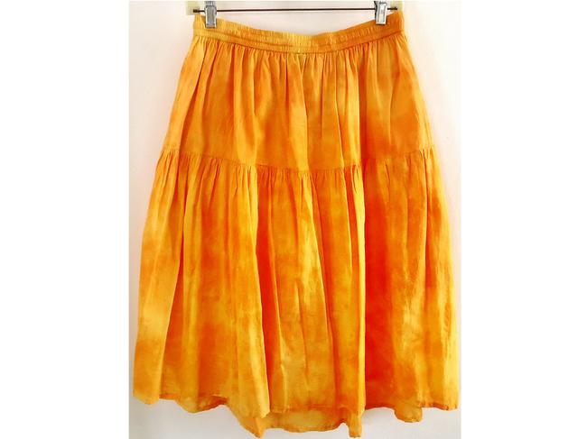 kaaku Cotton Lined Tie Dye Skirt orange