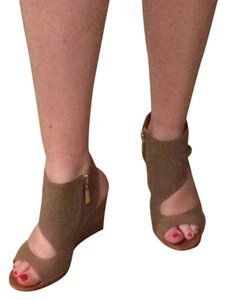 Matt Bernson Nude Canvas Wedges