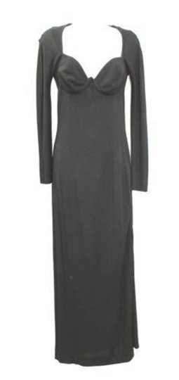Black Formal Bridesmaid/Mob Dress Size 4 (S)