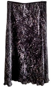 Jonathan Martin Silk Hand-washable Lined Skirt grey-black