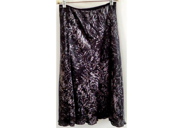 Jonathan Martin Silk Hand-washable Lined Elastic Skirt grey-black