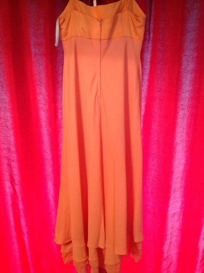 Alfred Angelo Satin and Crepe Chiffon 6481 Formal Bridesmaid/Mob Dress Size 16 (XL, Plus 0x)