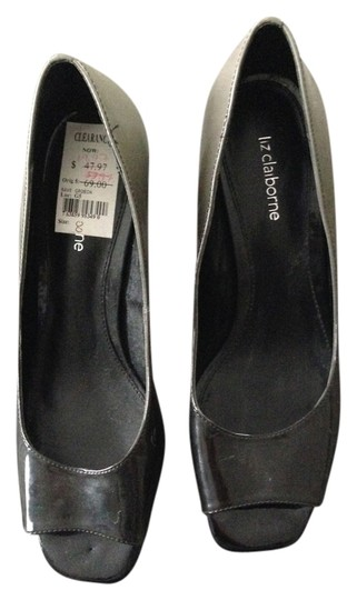 Liz Claiborne Black/Gray Ombre Pumps