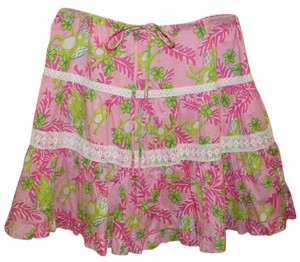 Lilly Pulitzer Drawstring Mini Skirt pink multi