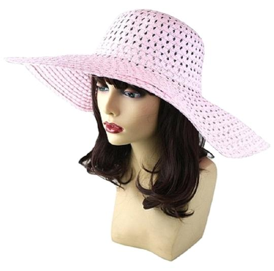 Other FASHIONISTA Pastel Pink Beach Sun Summer Floppy Dressy Hat