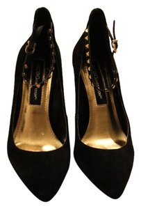BCBGeneration Studded Velvet Black, gold Pumps