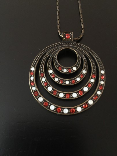 Other Necklace with red and white rhinestones