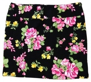 Xhilaration Mini Skirt black and floral print
