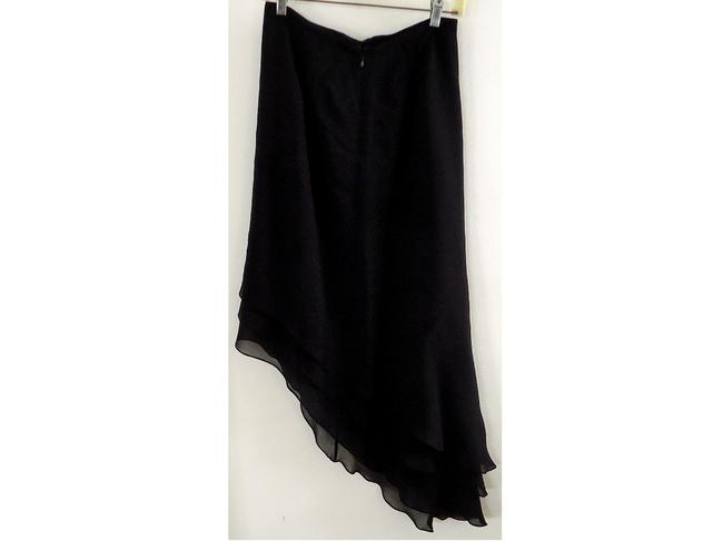 Sherrie Bloom Layered Silk Maxi Skirt black