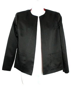 Adrianna Papell Black Evening Satin Jacket Sp Blazer