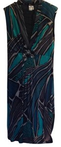 Alberto Makali Print Empire Waist Dress