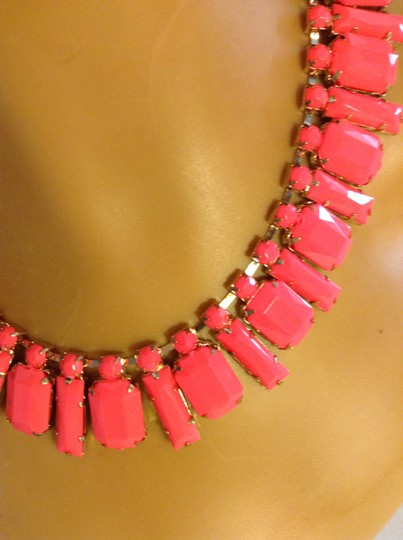 Other Hot Pink Acrylic Statement Choker Statement Necklace 0052535