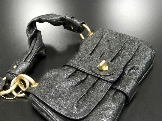 Coach Cocktail Patent Leather Valentino Ella Black Clutch