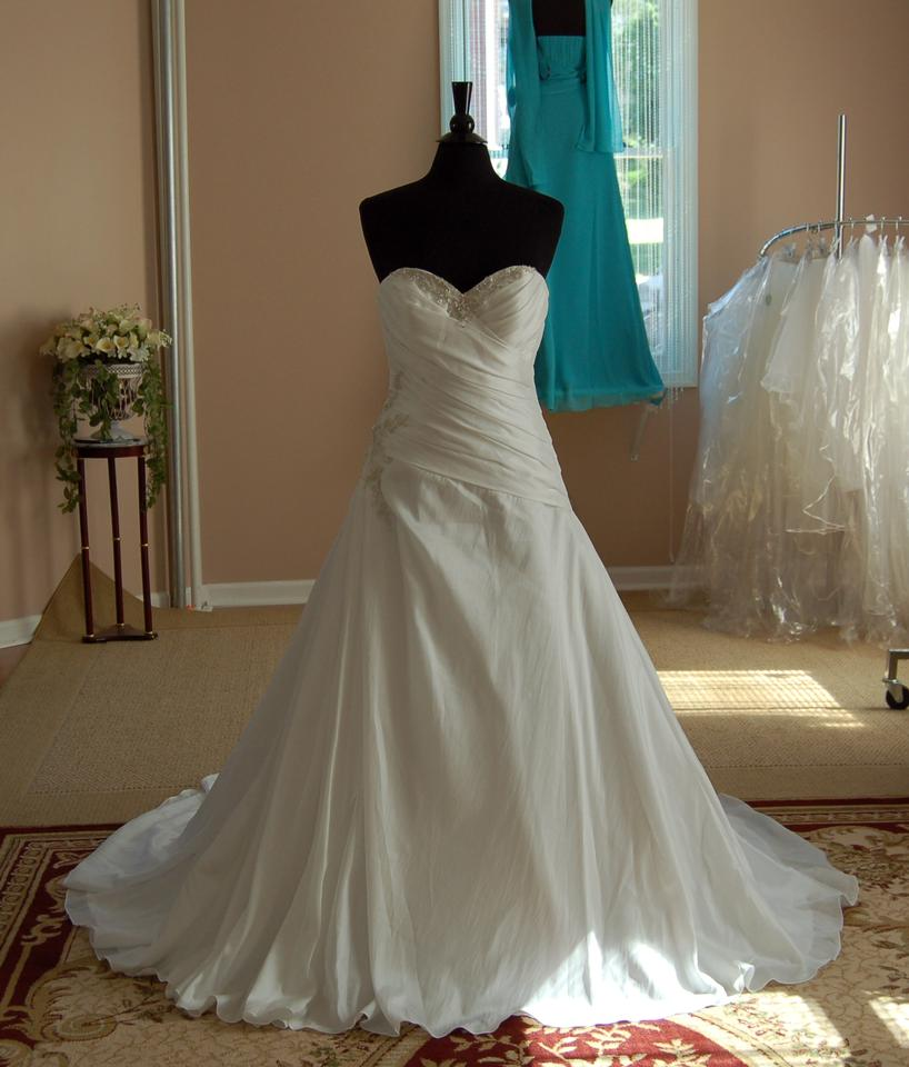 Silk Taffeta Wedding Gowns: Allure Bridals White Silk Taffeta 2358 Traditional Wedding