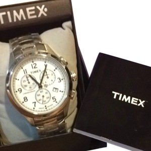 Timex Timex Stainless Steel Chronograph Watch NWT