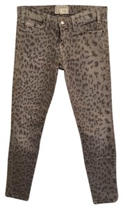 Current/Elliott Current Elliott Skinny Pants Grey Leopard