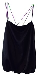 Studio M Satin Bubble Strappy Top Black