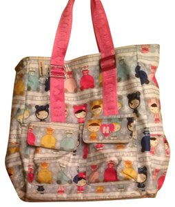 Harajuku Lovers Gwen Stefani Lamb Colorful Japan Pink Tote in Multi