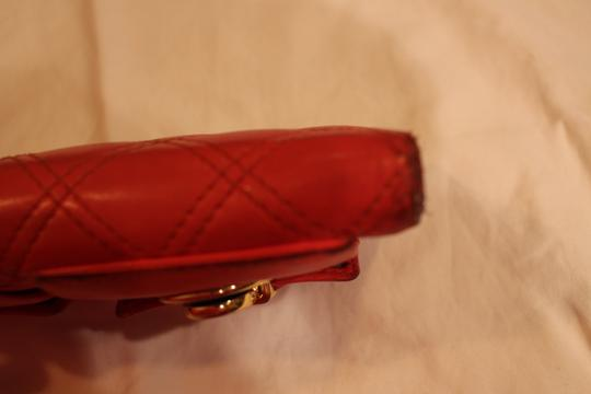 Marc Jacobs Marc Jacobs Quilted Zip Clutch Wallet in Coral