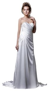 Enzoani Elegant Corset Back Soft Charmeuse Wedding Dress