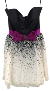 Jessica McClintock Polka Dot Strapless Dress