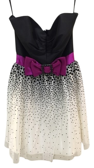 Preload https://item2.tradesy.com/images/jessica-mcclintock-black-and-white-polka-dot-strapless-above-knee-formal-dress-size-2-xs-3126466-0-0.jpg?width=400&height=650