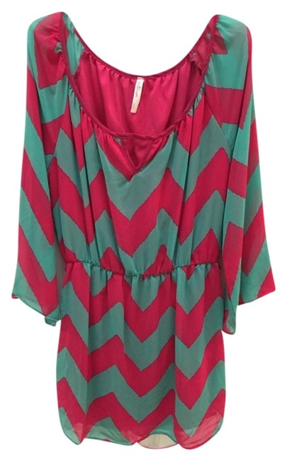 Other short dress Pink and Green Chevron on Tradesy