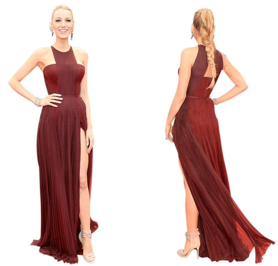 Gucci Burgundy Blake Lively Prom Red Carpet Celebrity Cannes Film
