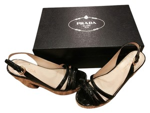 Prada Nero (black Patent) Platforms