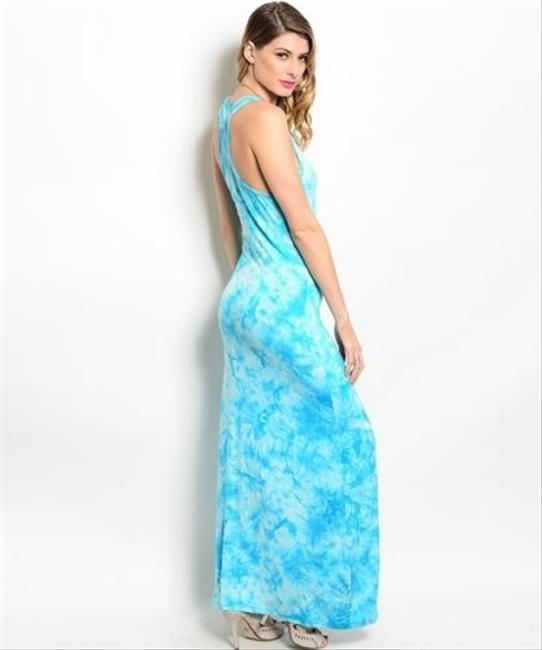 Blue,White Maxi Dress by Other