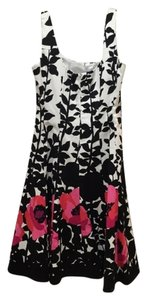 Nine West short dress Black and Pink Floral on Tradesy