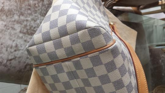 Louis Vuitton Totally Gm Damier Azur Tote in Cream and Gray