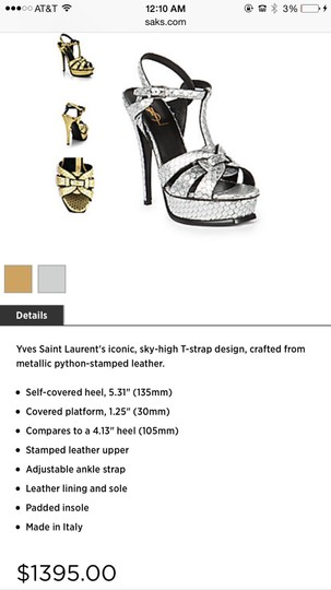 Yves St laurant Metallic Pumps