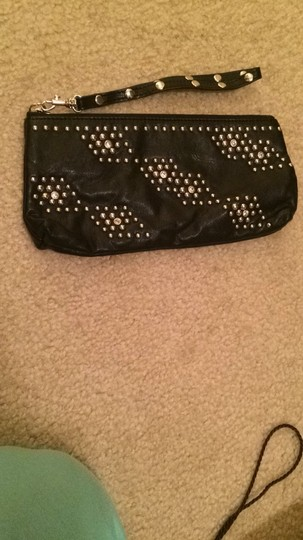 Express Black And Silver Clutch