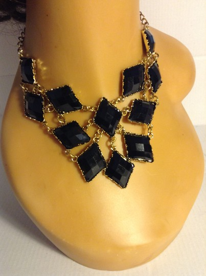 Other Black Acrylic Necklace Earring Set