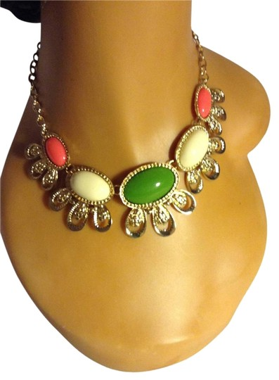 Other Oval Shapes Acrylic Statement Necklace