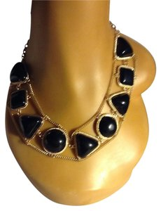 Other Black Circle and Rectangular Statement Necklace