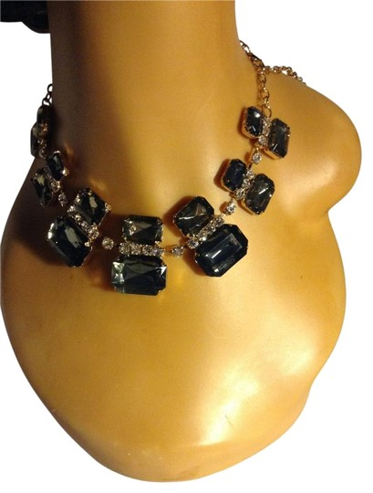 Other Smokey Grey Crystal Bib Statement Choker Necklace