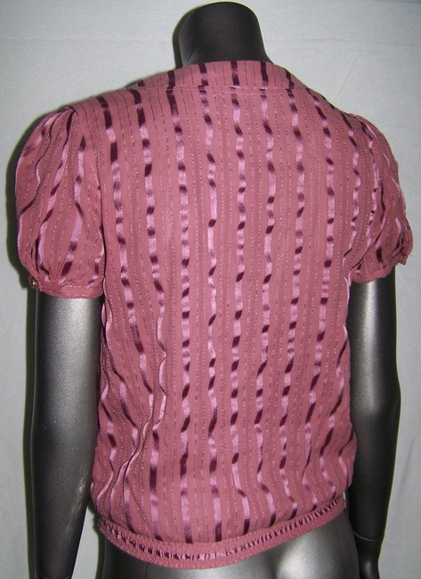 Kimchi Blue Short Sleeve Button Wood Button Top Pink