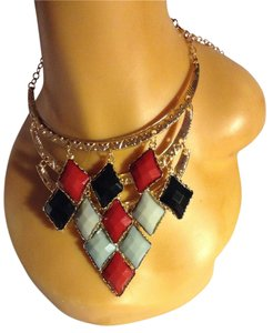 Other 3 Tier Acrylic Statement Necklace