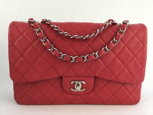 Chanel Classic Jumbo Coral Shoulder Bag