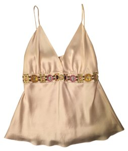 Julie Brown Silk Silk Night Out Sexy Top Cream