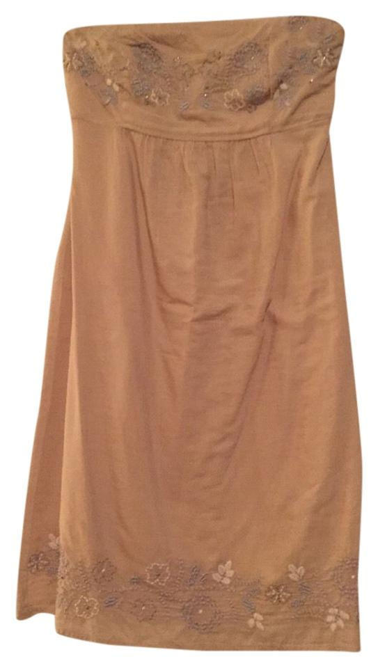 1312920747 American Eagle Outfitters Sand Strapless Sundress Above Knee Short ...
