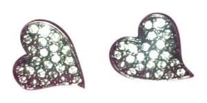 Guess Guess Micro-pave Heart Earrings